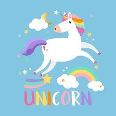 Set of magical unicorn stickers vector Unicorn Birthday Cards, Unicorn Party, Pixel Art, Cartoon Clouds, Unicorn Illustration, Unicorn Pictures, Unicorn Stickers, Cute Unicorn, Magical Unicorn