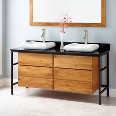 signature hardware wood sink