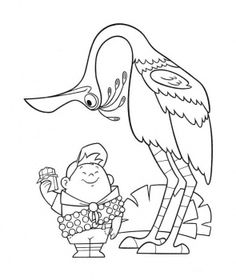Disney Up Coloring Pages Luxury Disney Pixar Up Coloring Pages 04 House Colouring Pages, Bird Coloring Pages, Coloring Pages For Girls, Disney Coloring Pages, Free Printable Coloring Pages, Coloring Books, Coloring Sheets, Disney Up, Disney Family