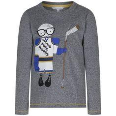 Little Marc Jacobs Boys Grey Long Sleeve T-Shirt