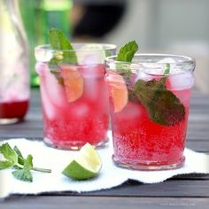 Blackberry Spritzers and Blackberry Mojitos