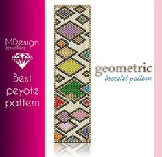 Geometric Peyote Pattern  MDesign by MDesignJewellery on Etsy, zł11.70