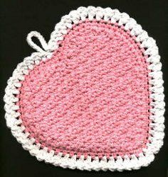 Textured Heart Potholder: free pattern