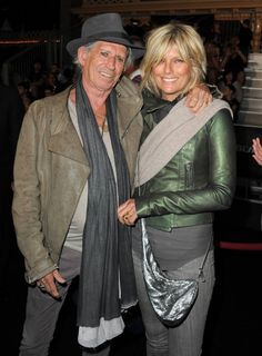 Patti Hansen and Keith Richards at event of Pirates of the Caribbean: On Stranger Tides