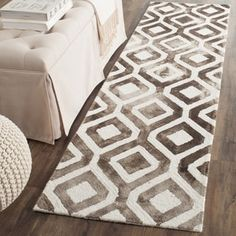 Shop for Safavieh Handmade Dip Dye Watercolor Vintage Ivory/ Chocolate Wool Rug (2'3 x 6'). Get free shipping at Overstock.com - Your Online Home Decor Outlet Store! Get 5% in rewards with Club O! - 17337752