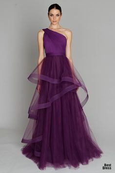 Inspiration - Weddings: I like this as a style for bridesmaid dresses even the plum color