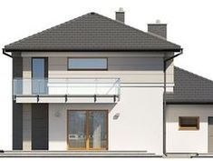 DOM.PL™ - Projekt domu TP Karat 4 CE - DOM TP2-29 - gotowy koszt budowy Bungalow, Gazebo, Construction, Outdoor Structures, Modern, Houses, Home, Building, Kiosk