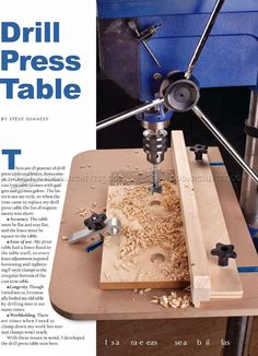 Drill Press Table Plan - Drill Press