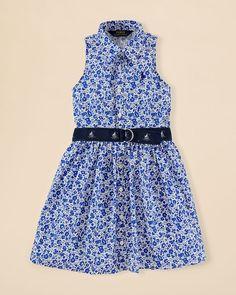 Ralph Lauren Childrenswear Girls' Print Shirt Dress - Sizes 2-6X