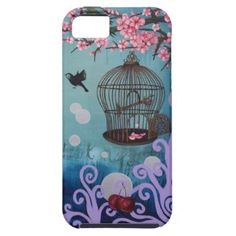 Shop Birdcage and cherry blossoms Case-Mate iPhone case created by PiecesofJosephine. New Iphone, Iphone Cases, Bird Cage, Cherry Blossom, Original Paintings, Custom Design, Store, Cover, Artwork