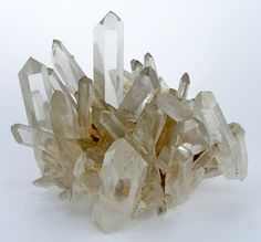 RHQTZ-18 - Quartz - $ 900 SOLD  Collier's Creek Mine, Montgomery County, Arkansas, USA  small cabinet, 8 x 7 x 6 cm 	  share specimen    ex.  Richard Hauck