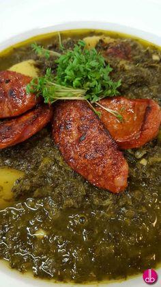 Grünkohl Eintopf mit gebratener Chorizo