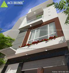 Nét đẹp nhà phố 4 tầng phong cách và tiện nghi với phối cảnh mặt tiền bắt mắt