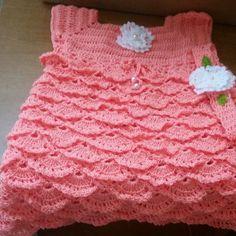 Crochet dress for 1 year girl