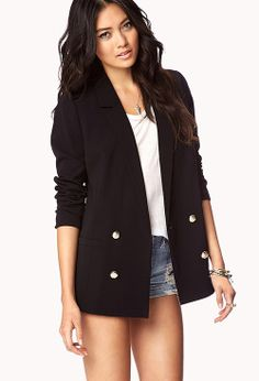 Tailored Crest Blazer | FOREVER21 - 2021236645