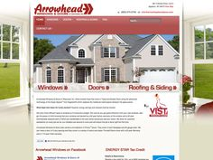 B2 Web Studios' Joomla website design for Arrowhead Exteriors of Wisconsin - http://arrowheadexteriorswi.com