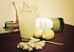 Homemade Ginger beer. Add rum and lime juice, and it will be the ubiquitous Dark & Stormy