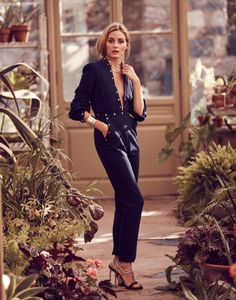 Bauble Bar x Olivia Palermo Collection Launch - Zimmermann jumpsuit