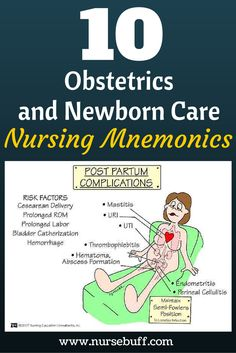 10 Obstetrics Nursing Mnemonics You Should Know Now: http://www.nursebuff.com/nursing-mnemonics-obstetrics-and-newborn-care/