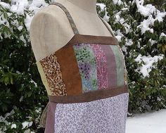 Hippie All Calico Patchwork Lined Bodice Open by harmoniousthreads, $32.00