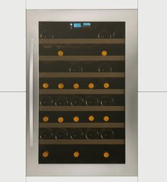 Caple, Built In Wine Cabinet in Stainless Steel with Audible Door Alarm, 8 Shelves and Vibration Free