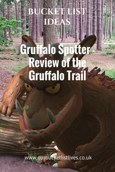 Gruffalo Spotter - Review of the Gruffalo Trail. Sherwood Forest Nottingham. Day out UK kids