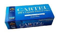 Tuburi tigari LUNGI CARTEL 200 pentru injectat tutun - Pretul pentru Tuburi tigari LUNGI CARTEL 200 pentru injectat tutun este pentru 1 cutie cu 200 tuburi tuburi. La aceste tuburi tigari se folosesc aparate speciale pentru tuburi lungi. Pentru acest tip de tuburi tigari super long va recomandam aparatul Prestige 100. Ambalaj: 200 tuburi/cutie Culoare filtru: alb Lungime filtru: 25 mm Lungime totala:100 mm Diametru 8  mm Comenzi la tel: 0744545936 sau pe www.tuburipentrutigari.ro Facial Tissue, Personal Care, Self Care, Personal Hygiene