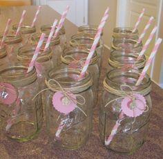 pink lemonade center piece | Baby Shower (for Twin Girls!) | Kristine's Kitchen