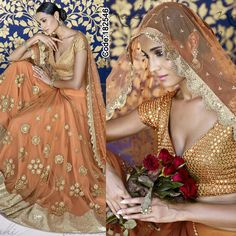 MEGA SALE! Get upto 70% off on all Designer Dresses!!  #Orange and #Golden #Lehenga   #Peach #Embroidery #Designer #Occasion #IndianDresses #Partywears #Indian #Women #Bridalwear #Fashion #Fashionista #OnlineShopping #Lehengacholi *Free Shipping Worldwide*