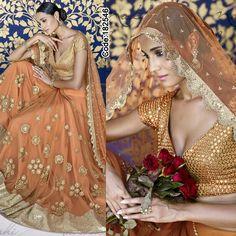 MEGA SALE! Get upto 70% off on all Designer Dresses!!  #Orange and #Golden #Lehenga   #Peach #Embroidery #Designer #Occasion #IndianDresses #Partywears #Indian #Women #Bridalwear #Fashion #Fashionista #OnlineShopping #Lehengacholi *Free Shipping Worldwide*