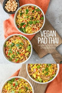 Delicious, flavor-packed vegan pad that's tastier than takeout and is ready in 30 minutes! #easyvegandinner #vegan #glutenfree #padthai