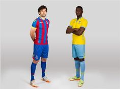 The new Crystal Palace home and away kits for the 2014/15 season.