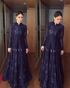 Rate her look Kareena Kapoor Khan for Lakme Fashion Week today . Indian Gowns, Indian Attire, Pakistani Dresses, Indian Wear, Indian Outfits, Indian Designer Outfits, Designer Dresses, Lehenga, Anarkali