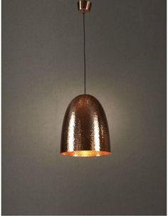 Dolce Beaten Copper Pendant Light - Chic Chandeliers