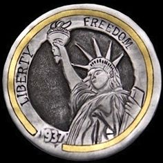 Jim Broyles - Statue of Liberty Hobo Nickel, Coin Art, Old Coins, Sculpture Art, Statue Of Liberty, Buffalo, Cactus, United States, America