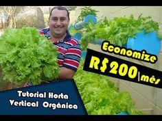 Tutorial de Horta Vertical Orgânica - Vídeo Aula, produzido para auxiliar as pessoas que querem implantar a horta em sua residência, dessa forma ganhar os be...