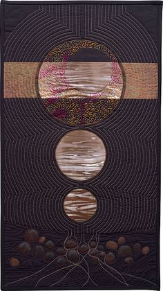 Zen Moon art quilt by Charlotte Bird