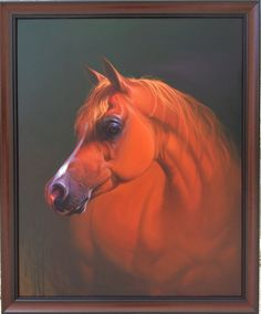 Arab horses oil painting