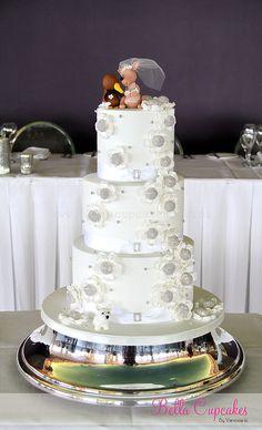 Kiwi Loves a Kangaroo wedding cake inspir cake, heaven cake, kangaroo cake, cake ii, wedding cakes, cake topper