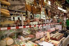 """Located in the heart of New York's """"Real Little Italy""""—Arthur Avenue in the Bronx—Mike's Deli has been serving up authentic Italian cured meats, cheeses, oils and pasta for over 50 years. This historic establishment also has a wide selection of desserts imported from Italy. [Photo: Joe Buglewicz/NYC & Company]"""
