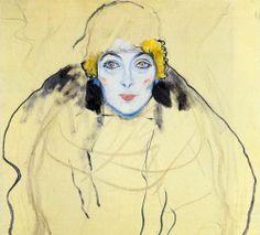 Gustav Klimt. Portrait of a Lady (Unfinished), 1917-18.