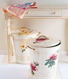Cubos antiguos decorados #DIY #Recycle #Home
