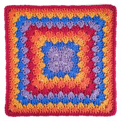 "Ravelry: Harlequin Shells 12"" Crochet Square pattern by Carolyn Christmas"