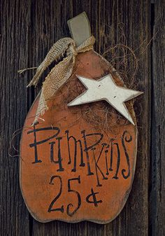 Primitive Fall Country Decor - Pumpkins For Sale - Wooden Wall Hanging Sign…