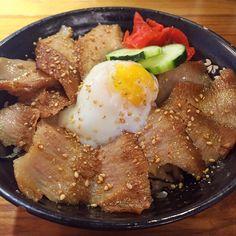 Pork Cheek Rice Bowl ($17) Pork Cheeks, Dinner Options, Rice Bowls, Sashimi, Salmon, Dishes, Ethnic Recipes, Food, Tablewares