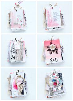 """Minialbum mit der Crate Paper Kollektion """"Heart Day"""" Steffi Ried #scrapbookwerkstatt #weddingalbum #minialbum #cratepaper #scrapbooking"""