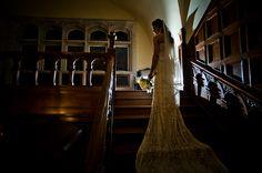 11-bride-glittery-dress-standing-stairs