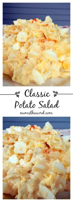 This classic potato salad is great! It's a tasty way to use up hard boiled eggs AND is SOOO easy to whip up! My family loved this recipe and found it be a tasty way to use up hardboiled Easter eggs! Classic Potato Salad, Classic Salad, Hard Boiled, Boiled Eggs, Good Food, Yummy Food, Potato Dishes, Potato Recipes, Soup And Salad