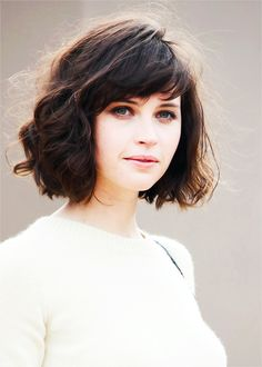 Short Thick Wavy Hair with Bangs
