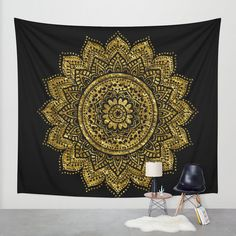 Thin Dark Green Passion Ombre Mandala Tapestry By Madhu International Gypsy Tapestry,Flower Sun-shine Trade Boho Mandala Tapestry Wall Hanging